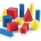 hand2mind Foam Geometric Solid Blocks, Assorted Colors, 3D Shapes (Set of 12) 12