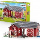 Schleich Farm World Large Red Barn with Animals and Accessories 27-piece