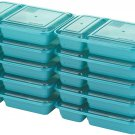 Good Cook 10784 Meal Prep, 2 Compartment BPA Free, 2 Compartment Teal