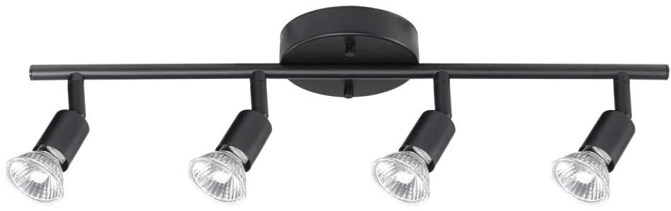Globe Electric Light Track Lighting Matte Black 4-Light