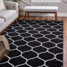 Unique Loom Trellis Frieze Collection Lattice 4' 0 x 6' 0 Rectangle Black