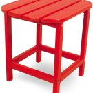 """POLYWOOD SBT18SR South Beach 18"""" Outdoor Side Table, Sunset Red Sunset Red"""