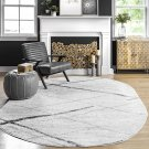 nuLOOM Thigpen Contemporary Area Rug, 8' x 10' Oval, Grey 8' x 10' Oval Grey
