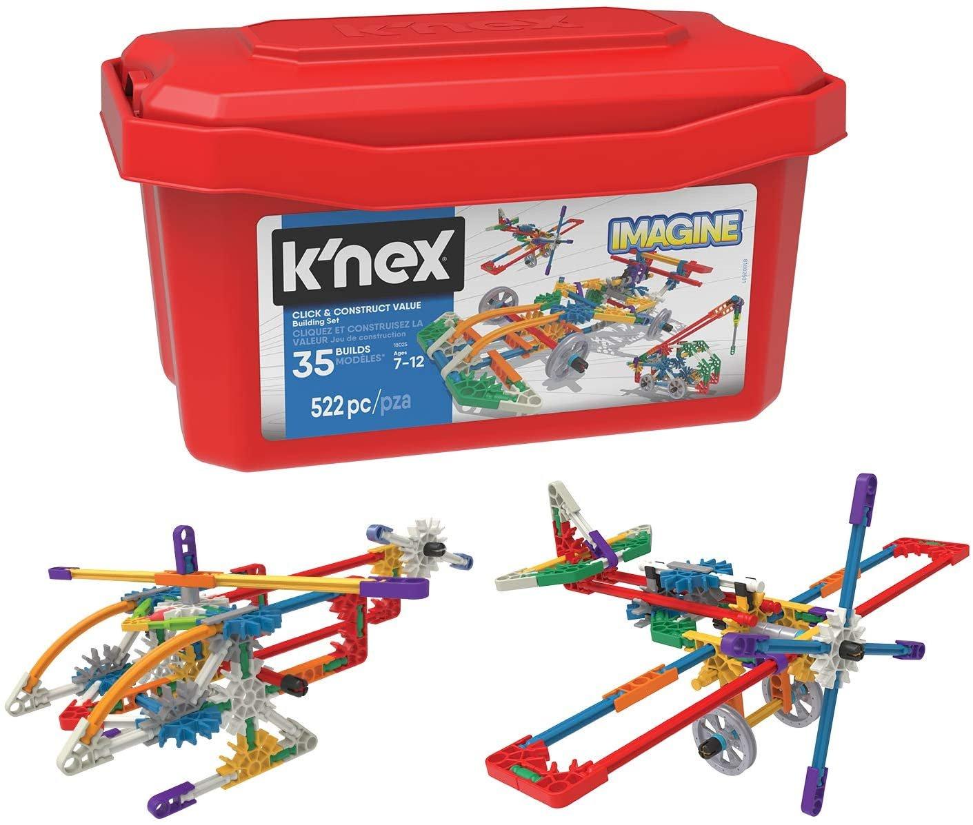 K'NEX Imagine - Click & Construct Value Building Set - 522Piece - 35 Models -