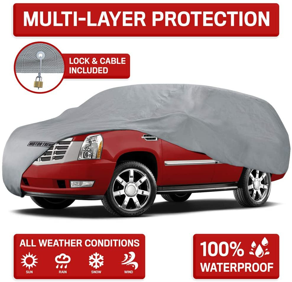 Motor Trend 4-Layer 4-Season Auto (Waterproof Outdoor UV Protection for XL