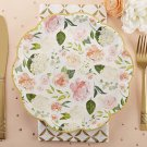 Kate Aspen, Floral Paper Plates, Disposable Floral 9 in. Paper Plates