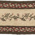 Christmas Holiday Flooring - Holly Berry Jute Red Stenciled Oval Stair Tread