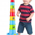 Happkid Stacking Cups with Castle Stacker for Toddler, Stacking and Sorting