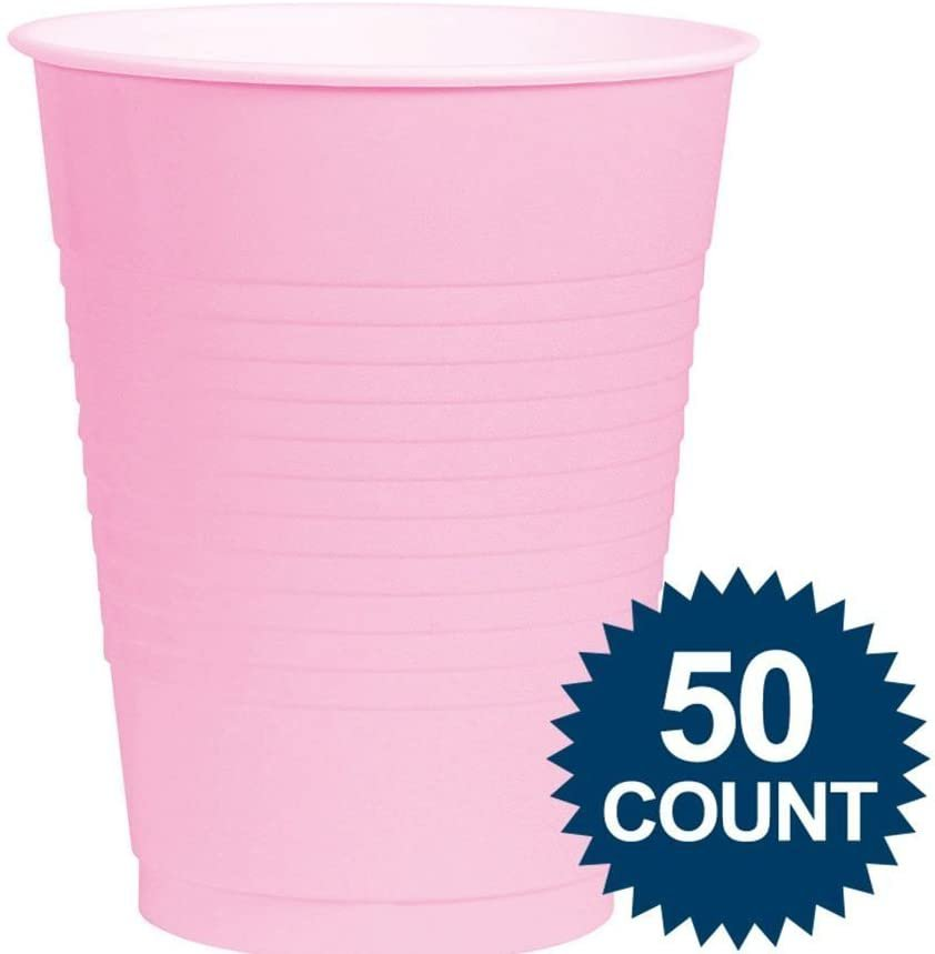 New Pink Plastic Cups Big Party Pack, 16 Oz., 50 Ct. 1