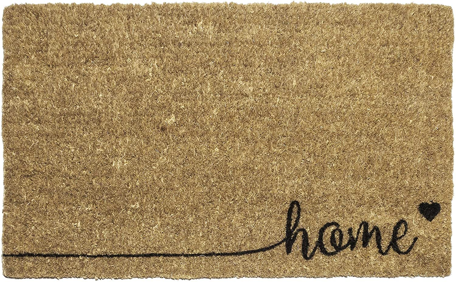 Entryways Home , Hand-Stenciled, All-Natural Coconut Fiber Coir 1 EA Black