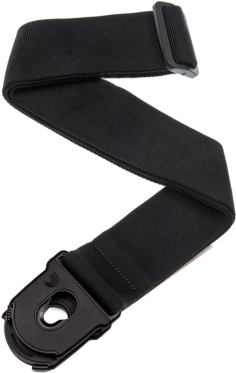 Planet Waves Planet Lock Guitar Strap, Black Nylon Black Nylon