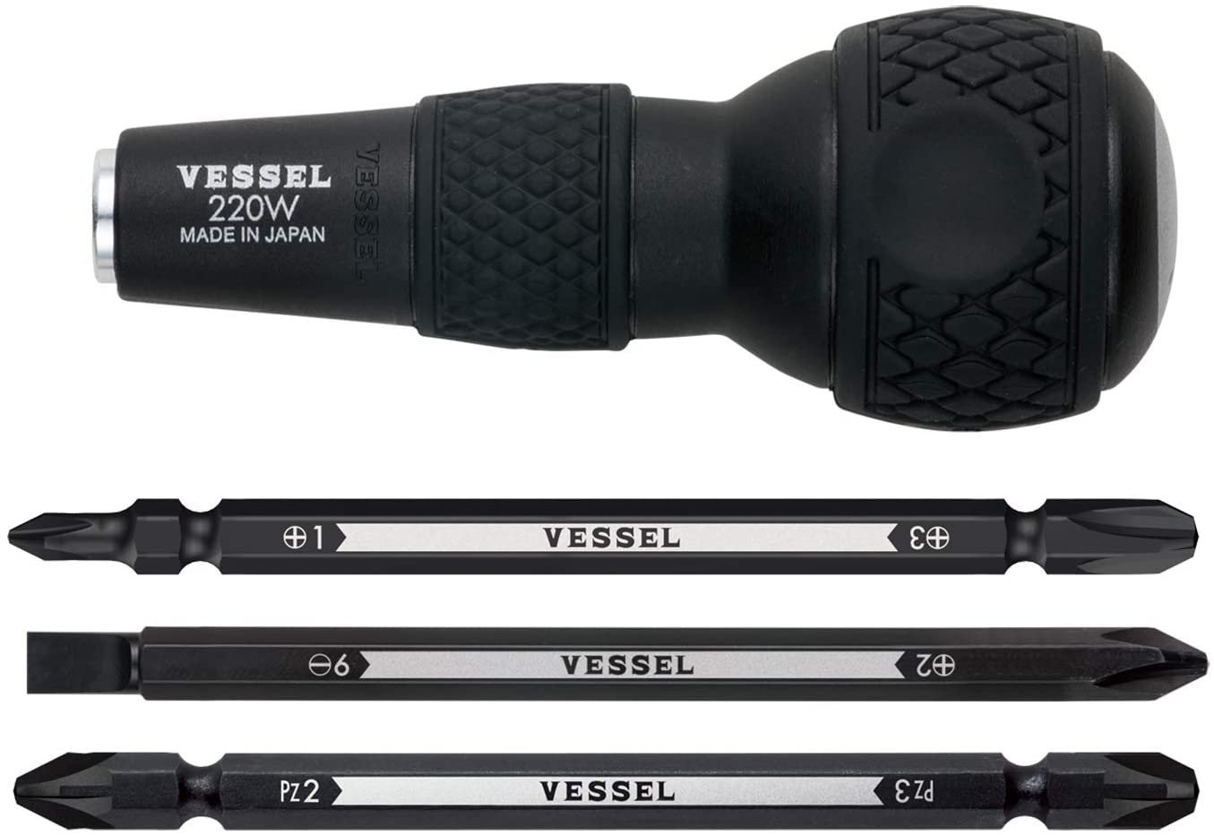 Bessel (Vessel) Ball Grip Difference and Screwdrivers Set No.220w-3 (Basic)