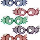"""Beistle 54840-60 25-Pack""""60"""" Glittered Foil Eyeglasses 60"""