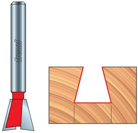 """Freud 5/8"""" 5/8-Inch Diameter 7-Degree Dovetail Router Bit with 1/2-Inch Shank"""
