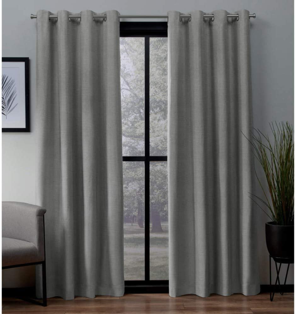 Exclusive Home Curtains London Textured Linen Thermal Window 54x96 Dove Grey