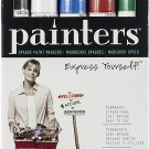 Elmer's Painters Opaque Paint Marker, Fine Point, Metallic Silver, Bright Fine