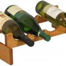 Wooden Mallet 4 Bottle Dakota Wine Rack, Medium Oak 1 Tier - 4 Bottles