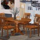 East West Furniture AVPL5-SBR-W Dinette set 4 Great dining room AVPL5-SBR-W