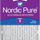 Nordic Pure 16x25x2 MERV 8 Pleated AC Furnace Air Filters 3 Pack, 3 PACK MERV 8