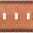 Franklin Brass W35078-CPS-C Classic Lace Triple Sponged Copper Triple Switch
