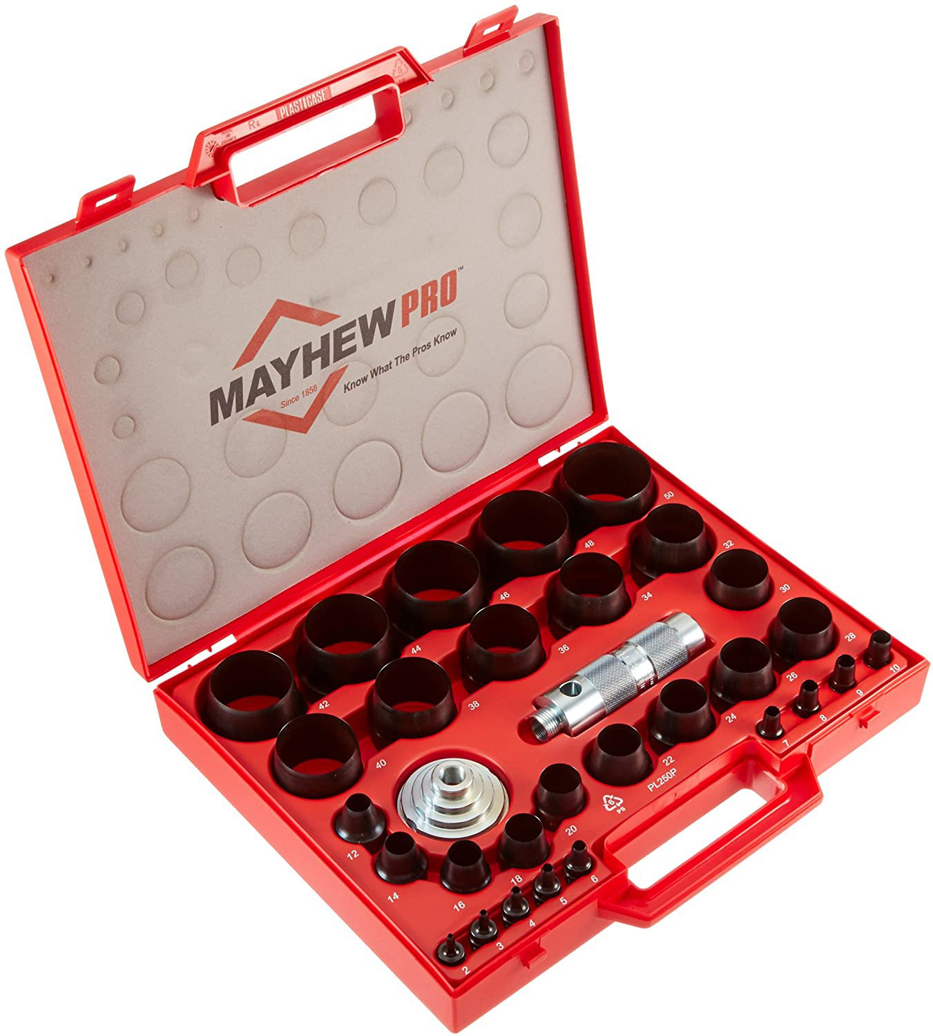 Mayhew Pro 66006 3 mm to 50 mm Metric Hollow Punch Set 3 mm to 50 mm Metric