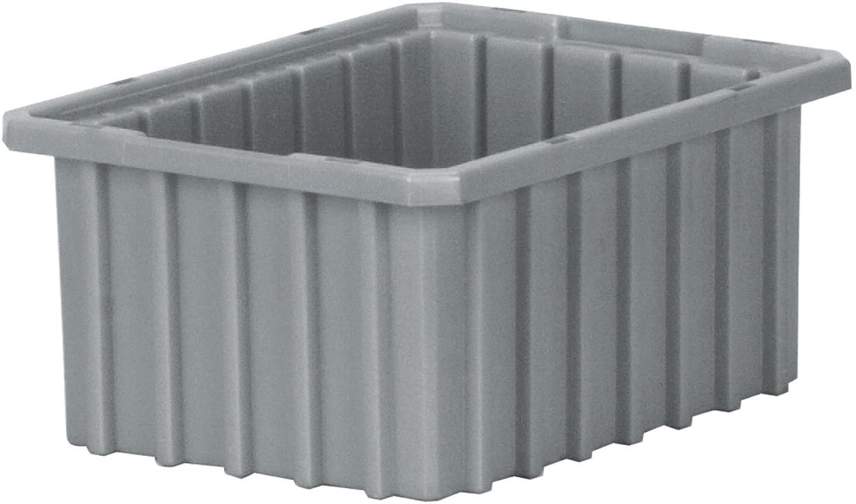 Akro-Mils 33105 Akro-Grid Slotted Divider Plastic Tote Box, 10-7/8 -Inch Grey