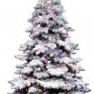 """Vickerman 3Ft. Flocked Alaskan Unlite White on Green Christmas Tree 36"""" Unlit"""