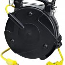 Alert Stamping 8150M-P Heavy Duty Industrial Retractable Extension Cord Reel