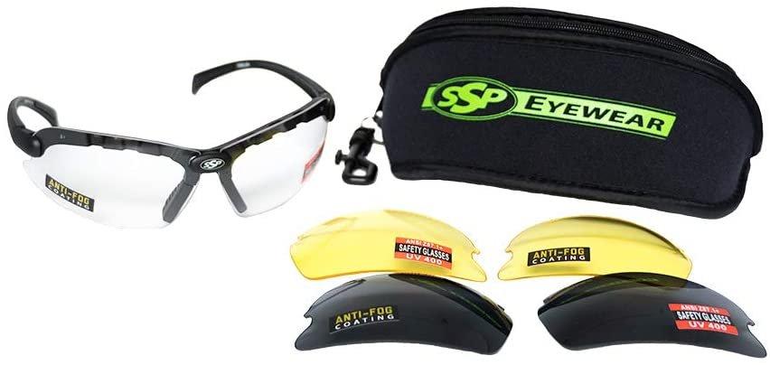 SSP Eyewear Shatterproof Safety Glasses Kit with Assorted Color Anti-Fog