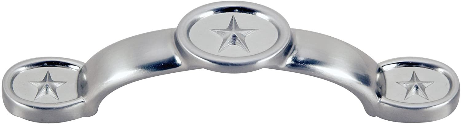 Hardware House 64-4385 Texas Star Style Cabinet Pull, .1-Pounds Satin Nickel