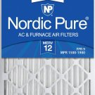 Nordic Pure 20x25x2 MERV 12 Pleated AC Furnace Air Filters 3 3 PACK MERV 12