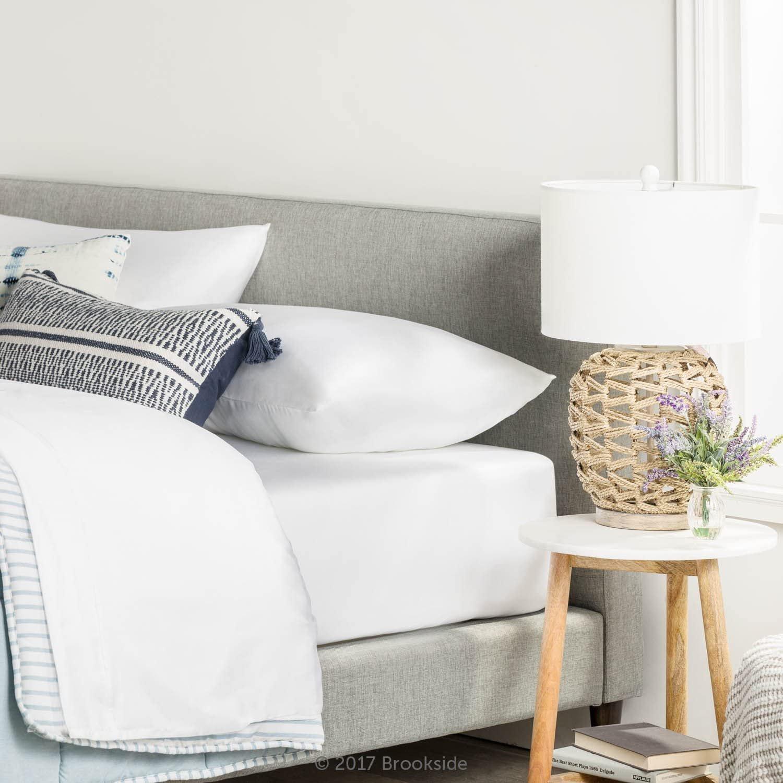Brookside - Tencel Sheet Set - Luxurious Feel - Great for Sensitive Twin White