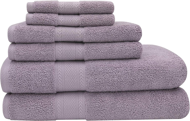 Baltic Linen Endure Luxury Super Soft 6-Piece Bath Towel 6-Piece Set Lilac
