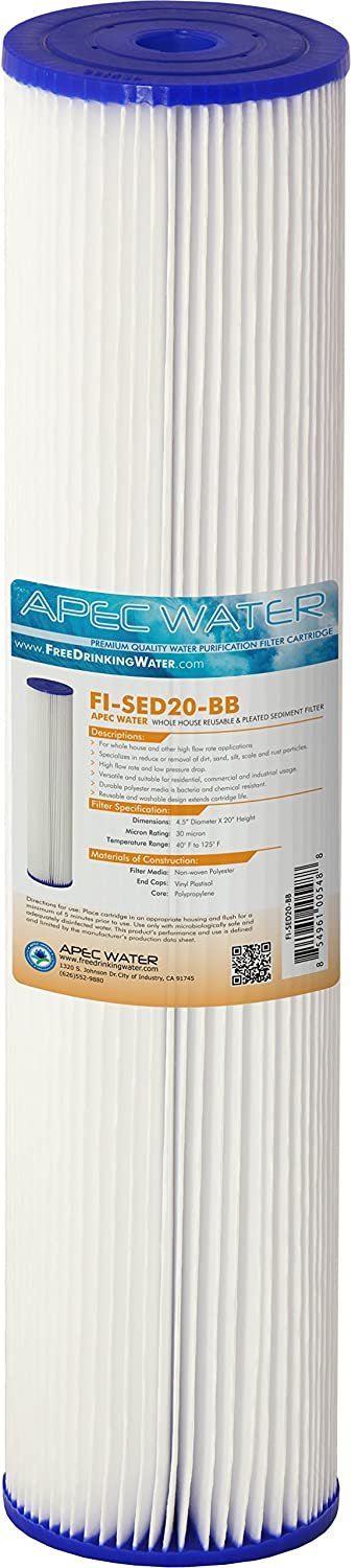 """APEC Water Systems 20"""" Whole House Sediment CB1-SED20-BB replacement filter"""