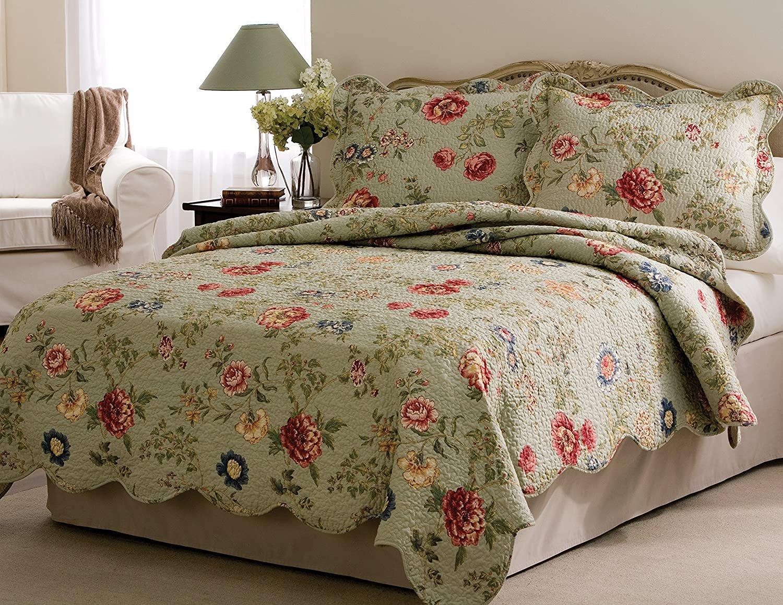 Lifestyle Pem America QS2885TW-2300 Edens Garden Quilt with Pillow Sham, Twin