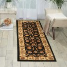 Nourison Paramount Black Runner Area Rug, 2-Feet 2-Inches by 7-Feet 3-Inches (2'