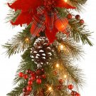 National Tree 9 Foot by 12 Inch Decorative Collection Tartan Plaid Garland with