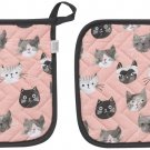 Now Designs Basic Potholder, Set of Two, Cats Meow