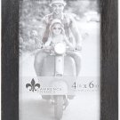 Lawrence Frames 4x6 Charlotte Weathered Black Wood Picture Frame