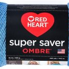 Red Heart Super Saver Ombre Yarn, 10 oz, True Blue