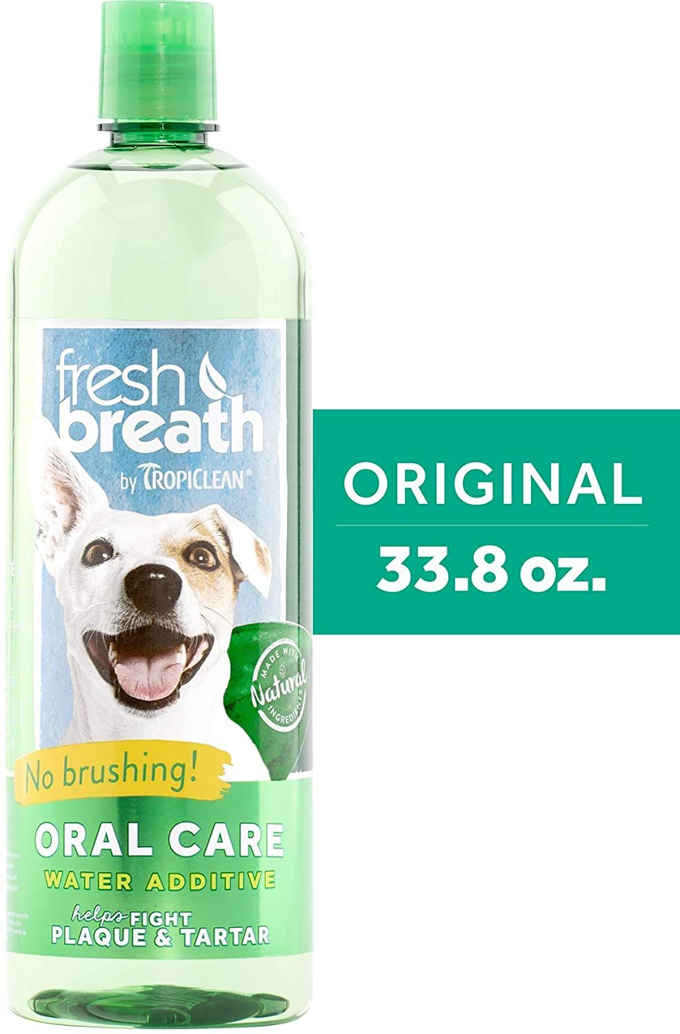 Fresh Breath by TropiClean No Brushing Water Additive for Pets, Made in USA