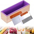 Ogrmar Silicone Soap Molds Kit-42 oz Wooden Silicone Soap Rectangular Mold with