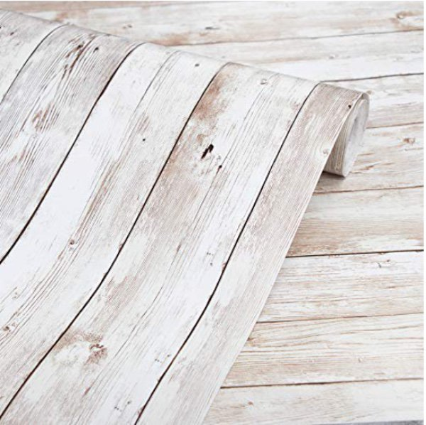 """Abyssaly Wood Wallpaper 17.71"""" X 118"""" Self-Adhesive Removable Wood Peel and Stic"""