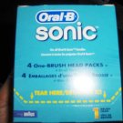 Oral B Sonic replacement brush heads 1 box of 4