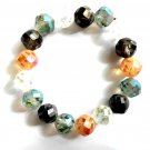 Braclet Set Earrings Multi Color Crystal Beads Women Stretch Elastic Wedding Party Jewelry 7024MC