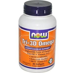 TRI-3D OMEGA 90 SGELS By Now Foods