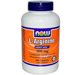 ARGININE 500mg 250 CAPS By Now Foods
