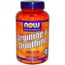 ARGININE/ORNITHINE 250 CAPS By Now Foods