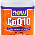 CoQ10 60mg  with Omega-3 30 SGELS By Now Foods