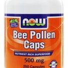 BEE POLLEN 500mg  250 CAPS By Now Foods